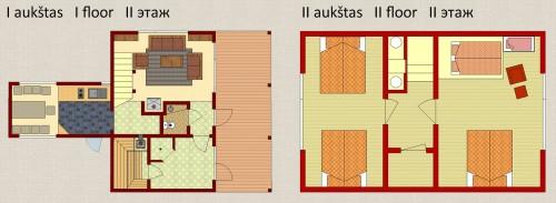Šešiavietis poilsio namas su pirtimi 116 m² (6+2)