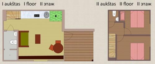Keturviečiai apartamentai 52 m²