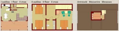 Rąstinis poilsio namas (6+2)